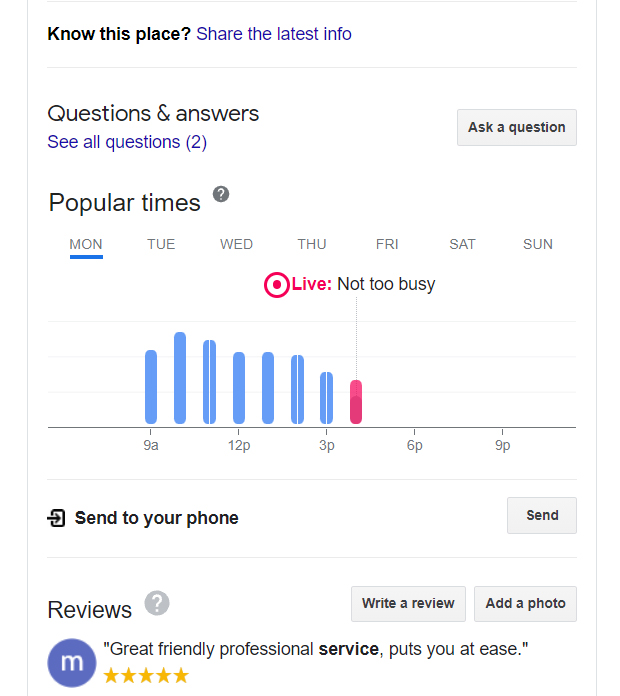 Google My Business Popular Times
