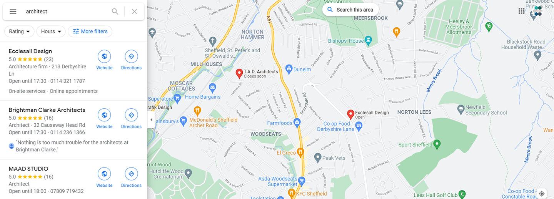 Google My Business Maps